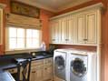 Custom laundry room design by a premier luxury home builder