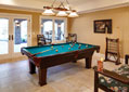 Custom billiards room in a Tennessee luxury estate