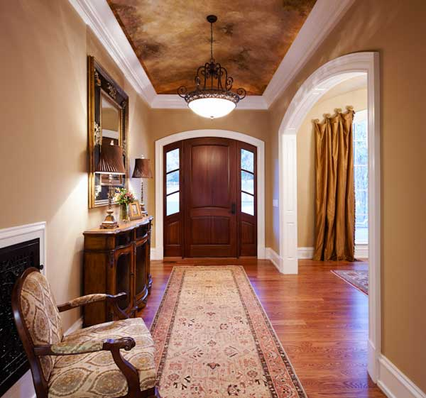 Custom-designed foyer, classic and elegant
