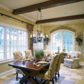 Bright, windowed breakfast area in a Middle Tennessee estate