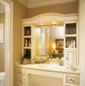 Full bathroom featuring a vanity and separate bathing area