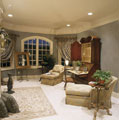 Master suite sitting area in a luxury estate home in Middle Tennessee