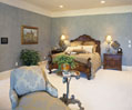 Custom master bedroom suite in a luxury home