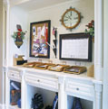 Custom family message center in a Nashville-area luxury home