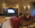 Luxury custom media room near Nashville