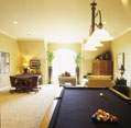 Custom game room in a Nashville-area estate home